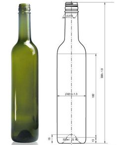 Foto de Botella de vino en es.Made-in-China.com Mechanical Engineering Design, Mechanical Design, Orthographic Drawing, Isometric Drawing, Interesting Drawings, 3d Printer Designs, Wine Display, Art Worksheets, Technical Drawing