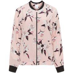 Zhenzi Pink / Multicolour Plus Size Printed bomber jacket (3.090 RUB) ❤ liked on Polyvore featuring outerwear, jackets, tops, pink, plus size, bomber jackets, style bomber jacket, long sleeve jacket, plus size leopard jacket and women's plus size jackets
