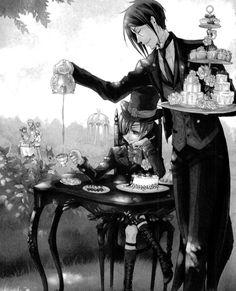 kuroshitsuji, black butler, Ciel Phantomhive and sebastian michaelis image