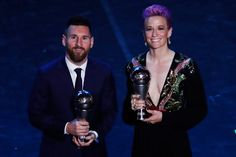 Lionel Messi and Megan Rapinoe Are FIFA Players of the Year Soccer Awards Decorations and Honors Football Awards, Fifa Football, Megan Rapinoe, Lionel Messi, Cristiano Ronaldo, Virgil Van Dijk, Coach Of The Year, Mauricio Pochettino, Soccer