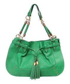 Pine Green Maya Satchel - from the Jessica Simpson Collection