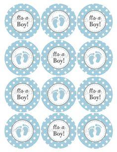 Its a Boy Cupcake Toppers Baby Shower by BumpAndBeyondDesigns