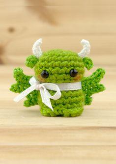 Pet Dragon, Baby Dragon, Dragon Miniatures, Yellow Dragon, Dragon Figurines, Dragon Statue, Unique Gifts, Handmade Gifts, Crochet Toys