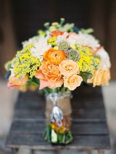 Fall-inspired #bouquet | Red Corral Ranch Wedding from Matthew Johnson Studios  Read more - http://www.stylemepretty.com/texas-weddings/2013/10/31/red-corral-ranch-wedding-from-matthew-johnson-studios-2/