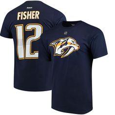Mike Fisher Nashville Predators Reebok Name and Number T-Shirt - Navy 66d4efa15