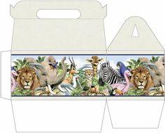 Cajas decorativas a dos aguas para imprimir gratis.