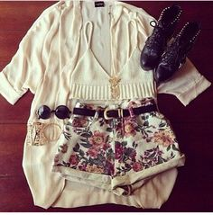 Floral shorts are a must!