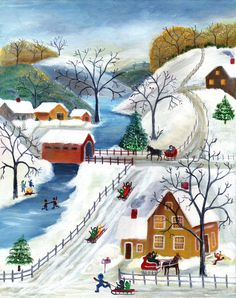 Winter Wonderland Home for the Hoildays Print - cherylbartleydesigns