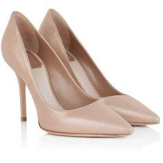 Christian Dior Pumps, Cherie Pointy Pump Beige Clair Shoe ($420) ❤ liked on Polyvore featuring shoes, pumps, heels, gold, heels stilettos, beige pumps, glitter stiletto pumps, high heel stiletto pumps and christian dior pumps