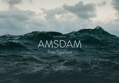 Amsdam Typeface on Behance