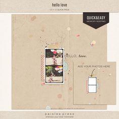 hello love - quick page