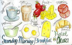 Food! Online drawing course - Koosje Koene - Learn to draw: colour @Koosje Koene Koene @Kristin :: Teal White Garden Holt #draw #kholt