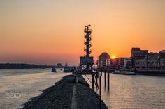 September evening - September evning over the port of Hamburg