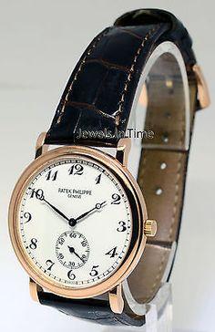 Patek Philippe Calatrava 5022 18k Rose Gold Mens Watch & Box 5022R