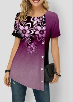 Stylish Tops For Girls, Trendy Tops, Trendy Fashion Tops, Trendy Tops For Women Stylish Tops For Girls, Trendy Tops For Women, T Shirts For Women, Clothes For Women, Casual Skirt Outfits, Ladies Dress Design, Blouse Designs, Dame, Fashion Dresses