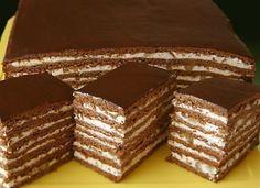 Medovo – čokoládový zákusok s orechami   mňamky-recepty.sk  na každý deň