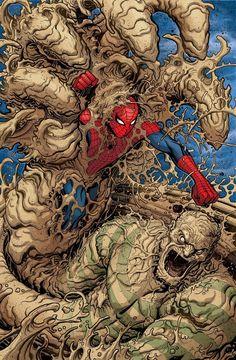 Spider-Man vs. Sandman by Nick Bradshaw