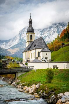 Berteschgaden Church ~ Bavarian Alps, Germany