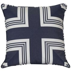 Ralph Lauren Nautical Striped Pillow ($160) ❤ liked on Polyvore featuring home, home decor, throw pillows, pillows, cross home decor, target throw pillows, ralph lauren, ralph lauren throw pillows and twin pack