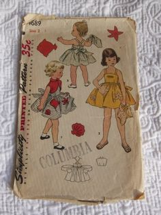 My mom sewed all of my clothes up until about the first grade. I bet she still has patterns like this in her files!
