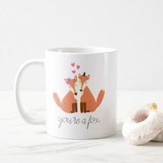Foxes in Love Coffee Mug - marriage gifts diy ideas custom