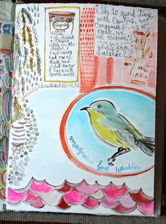 Pam Garrison current art journaling: spend time with Creators