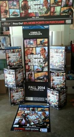 Grand theft auto five gta 5 ULTIMATE MEGA GAME ROOM DISPLAY poster, boxes, stand in Video Games & Consoles | eBay