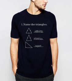 2017 Summer Funny Math Geometry Name the Triangles Science T Shirt Short Sleeve O-Neck T-Shirt 100% cotton high quality top tees
