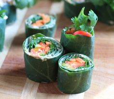 ABES collard green sushi #food #recipe