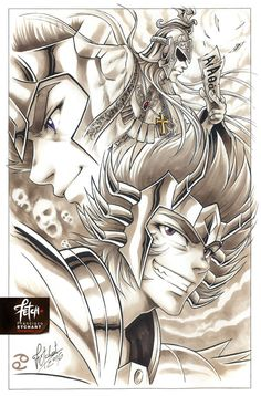 Deathmask, Sage, Manigoldo by FETCH Francisco Etchart