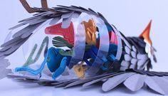 Amazing Paper Bird Sculptures Reveal Their Internal Anatomy - My Modern Metropolis