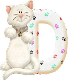 Alfabeto gatito de fieltro. | Oh my Alfabetos!