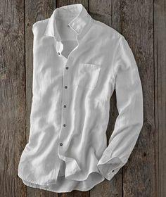 Effortlessly Cool Men's Shirts - Effortless White Shirt - Carbon2Cobalt