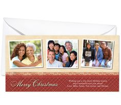 Photo Cards : Pattern Christmas Holiday Photo Card Template