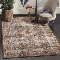 Safavieh Bijar Traditional Oriental Brown/ Rust Distressed Rug - X X - Brown/Rust) (Polypropylene, Medallion) Persian Motifs, Traditional Area Rugs, Traditional Styles, Home Decor Trends, Online Home Decor Stores, Online Shopping, Home Interior, Interior Design, Outdoor Rugs