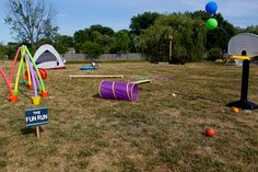 A Backyard Summer Birthday Party | Annie's Eats by annieseats, via Flickr - fun run / obstacle course