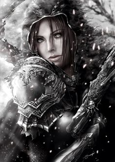 Find images and videos about elf and fantasy art on We Heart It - the app to get lost in what you love. Fantasy Women, Dark Fantasy Art, Fantasy Girl, Fantasy Artwork, Fantasy Warrior, Warrior Girl, Character Portraits, Character Art, Fantasy Characters