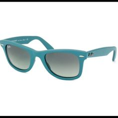 Authentic Teal Ray Bans