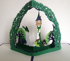 Carte pop up : Rapunzel