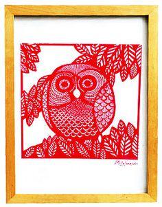 owl print.