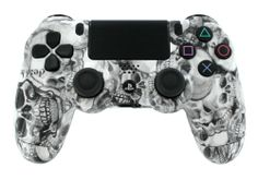 """White Toxic Skulls"" PS4 Custom Modded Controller for All COD & Ghost featuring Auto Aim, Drop Shot, Jump Shot, Quick Scope, Fast Reload, & Much More - http://androidizen.com/shop/white-toxic-skulls-ps4-custom-modded-controller-for-all-cod-ghost-featuring-auto-aim-drop-shot-jump-shot-quick-scope-fast-reload-much-more/"