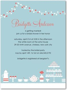 bridal shower invitations from #weddingpaperdivas