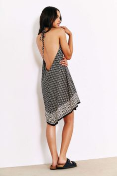 Band Of Gypsies Scarf Hem Slip Dress - Urban Outfitters
