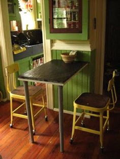 Carmen and Ginger: Industrial Awakening - Small Kitchen table