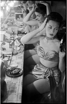 Nearly show time at the Copacabana, 1948. Photographed by Stanley Kubrick,