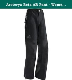 Arcteryx Beta AR Pant - Women's Black Small. FEATURES of the Arcteryx Women's Beta AR Pant Highly breathable Gore-Tex Pro; N40r-X face fabric, a lightweight ripstop face fabric that is tough and supple, is used on the front of legs, hardwearing N80p-X face fabric in high wear areas 3/4 length WaterTight side zippers with back flaps ensure easy removal over boots and crampons Adjustable webbing belt, zip fly with snap Single zippered hip pocket Keprotec instep patch protects against edges...