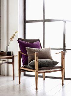 Purple Area: Velvet Cushions