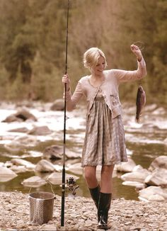 """My grandpa taught me that girls go fishing & can bait their own lines, gut their own fish, and fry them up in a pan."""