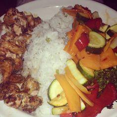 Salmon teriyaki kebabs, rice and a tonne of sweet chilli #superfree #slimmingworld #freefood #extraeasy