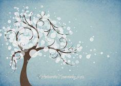 Cielo azul naturaleza inspirado el árbol del por NaturesHeavenlyArt